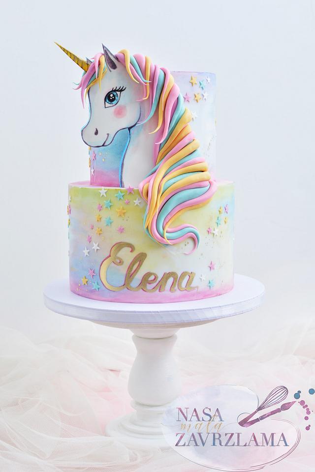 Hand Painter Unicorn Head