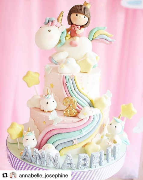 Unicorn Two Tied Cake