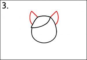 Step 3 - Add 2 Ears - How To Draw A Unicorn