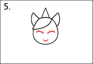 Step 4 Lets Draw A Unicorn Face - How To Draw A Unicorn
