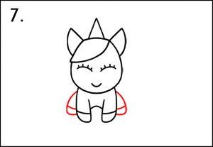 Step 7 - Draw Unicorn Legs - How To Draw A Unicorn